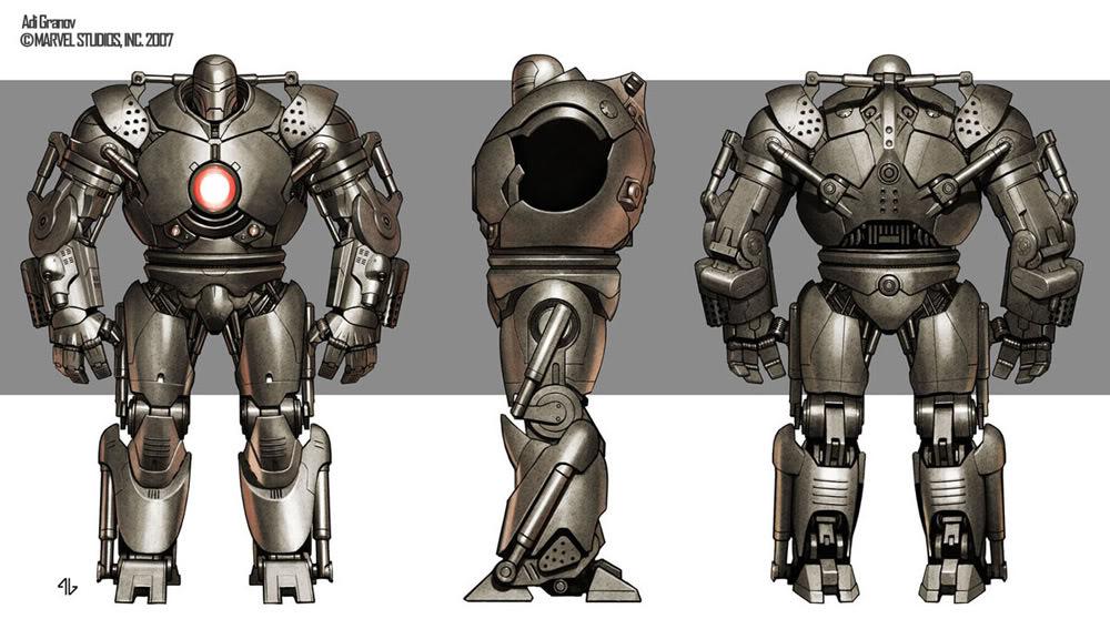 Concept Art Iron Man par Adi Granov Iron19