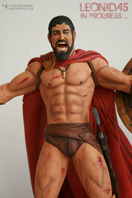 TERMINE - Statue kit resine Leonidas film 300 - SPARTIATES ! Kit10