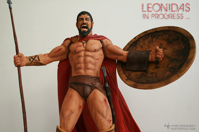 TERMINE - Statue kit resine Leonidas film 300 - SPARTIATES ! Kit11