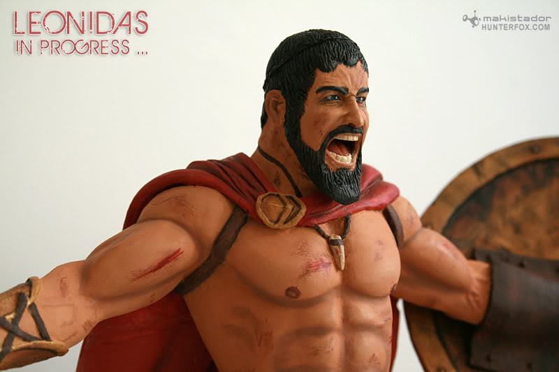 TERMINE - Statue kit resine Leonidas film 300 - SPARTIATES ! Kit12