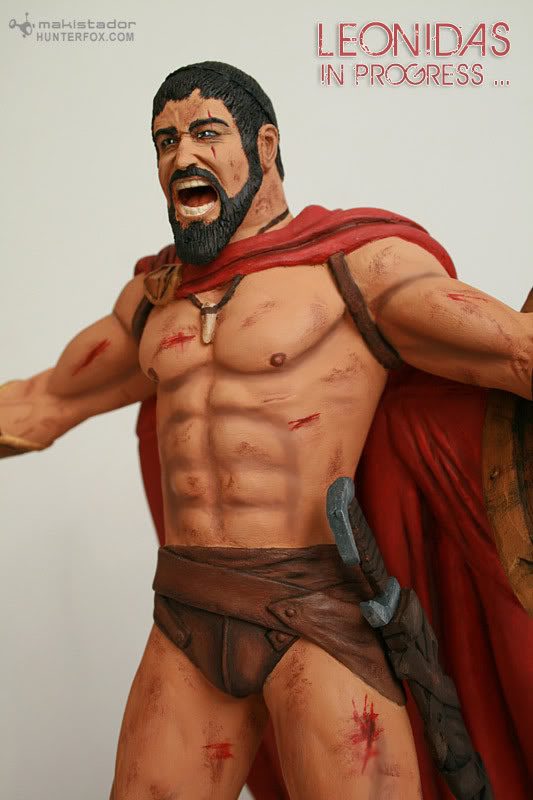 TERMINE - Statue kit resine Leonidas film 300 - SPARTIATES ! Kit13