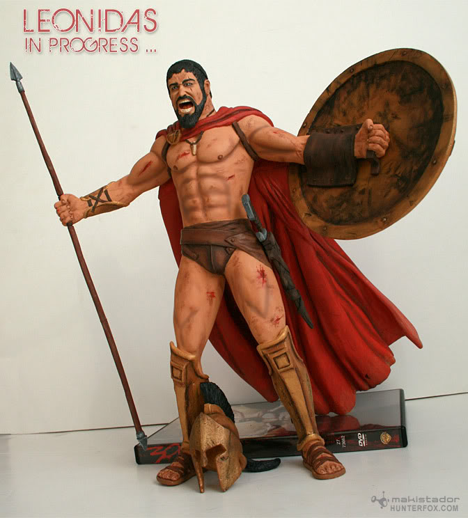 TERMINE - Statue kit resine Leonidas film 300 - SPARTIATES ! Kit14