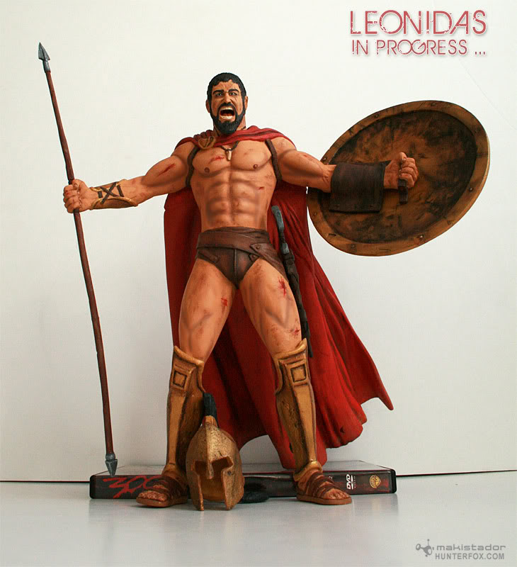 TERMINE - Statue kit resine Leonidas film 300 - SPARTIATES ! Kit6