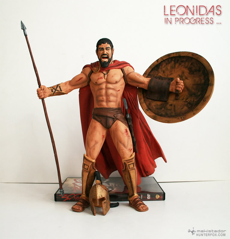 TERMINE - Statue kit resine Leonidas film 300 - SPARTIATES ! Kit7