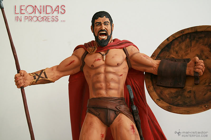TERMINE - Statue kit resine Leonidas film 300 - SPARTIATES ! Kit9