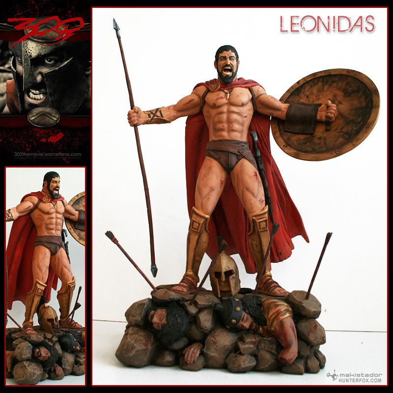 TERMINE - Statue kit resine Leonidas film 300 - SPARTIATES ! Kitleonidas1