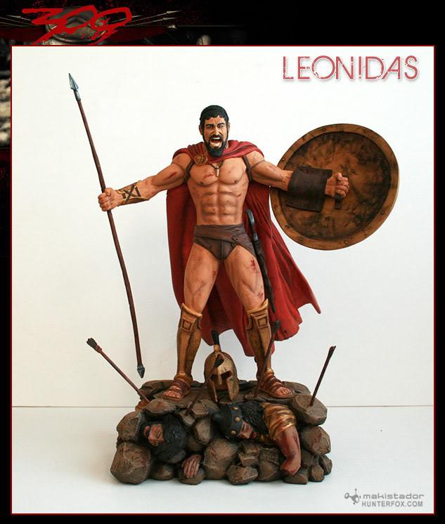 TERMINE - Statue kit resine Leonidas film 300 - SPARTIATES ! Kitleonidas3