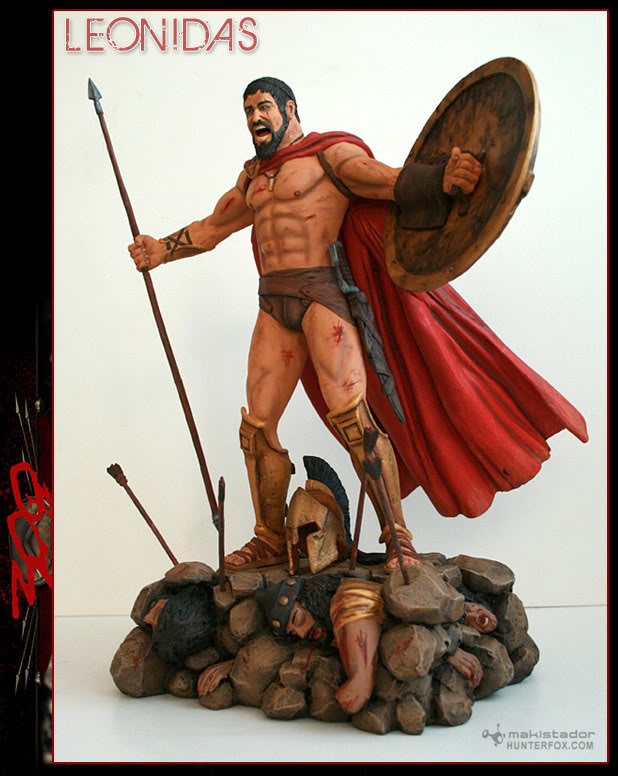 TERMINE - Statue kit resine Leonidas film 300 - SPARTIATES ! Kitleonidas9