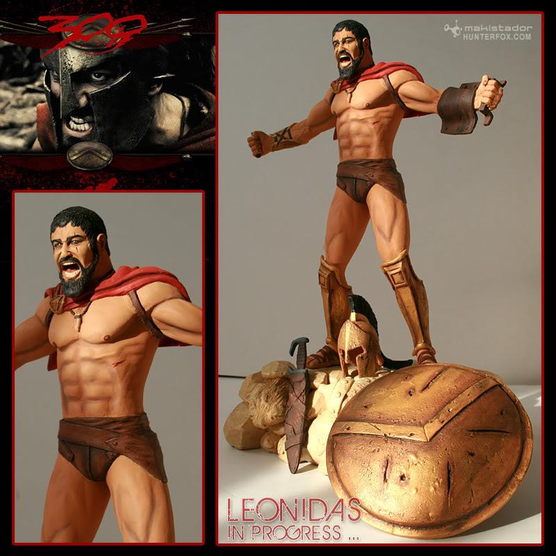 TERMINE - Statue kit resine Leonidas film 300 - SPARTIATES ! Leonidas1