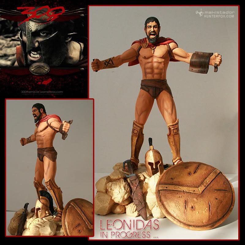 TERMINE - Statue kit resine Leonidas film 300 - SPARTIATES ! Leonidas2