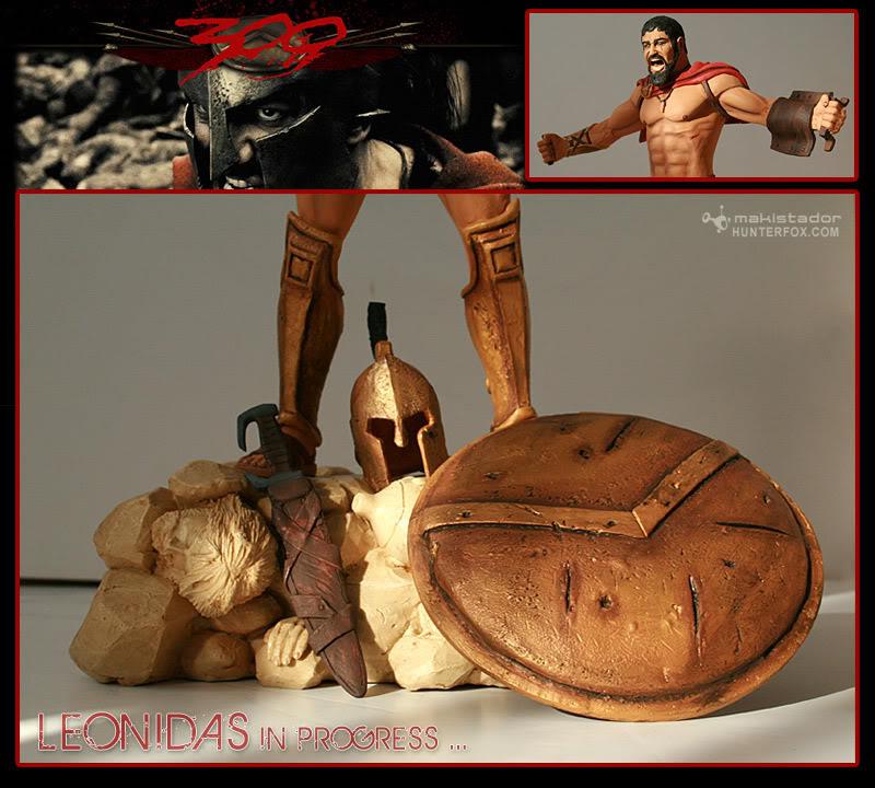 TERMINE - Statue kit resine Leonidas film 300 - SPARTIATES ! Leonidas3