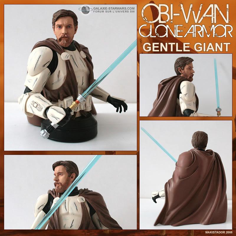 Buste Obi-wan clone armor custom Obiwanarmor