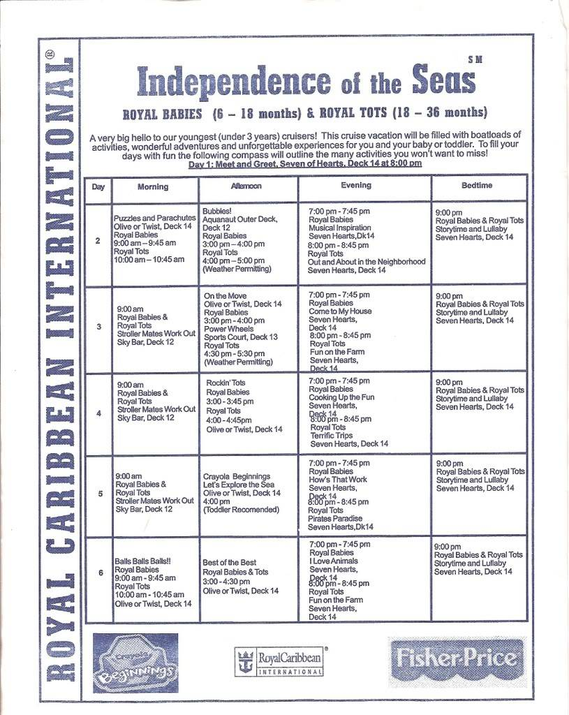 Independence of the Seas Fort Laud, Belize, Costa Maya, Coz - Page 2 IndyRoyalTotsBabies