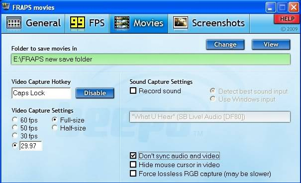 FRAPS , improve your recording performance FRAPSmovies