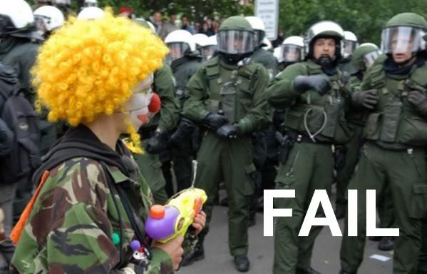 FAILTASTICAL Clown-protester