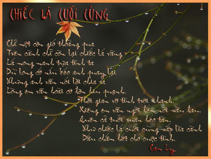 Khung trời bình yên -Tranh thơ Camly Chiecla