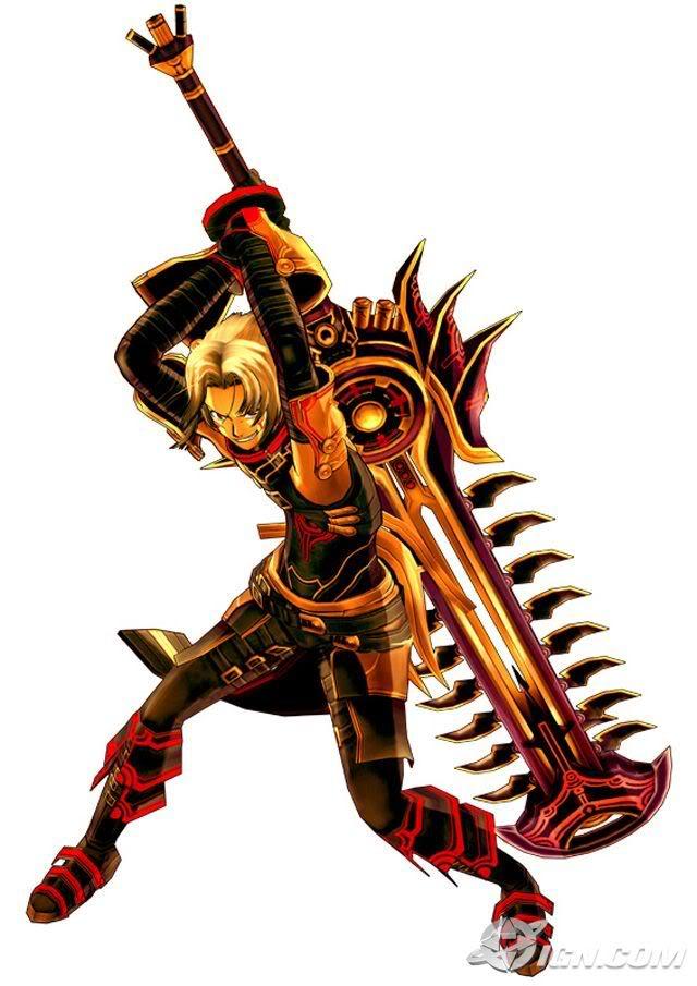 Heruken's twin blade guns Haseo