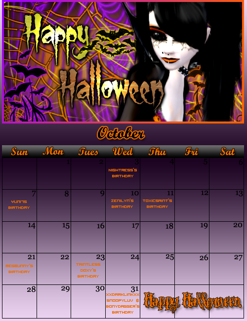 2007 Calendar Archive Oct07