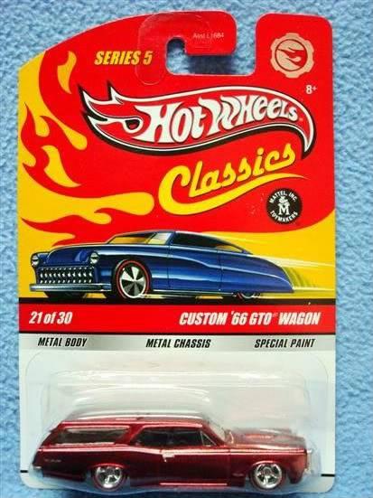 ¿Cual es tu Hotwheels favorito? Serie5Chase21Custom66GTOWagonRedCus
