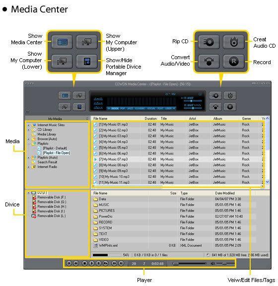 كامل + شرح مفصل + محمول = محتاج لتحميلكم ورئيكمJetAudio v7 Screenshot_01