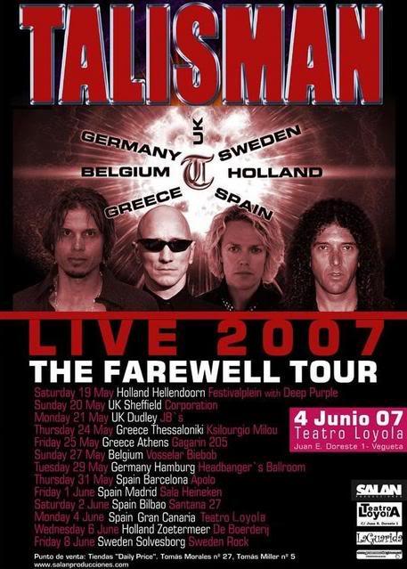 Official Tour 2007 Poster Talismancartelok