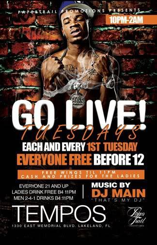 FEBRUARY 1ST GO LIVE TUESDAY'S !!!! GoLiveTuesdays