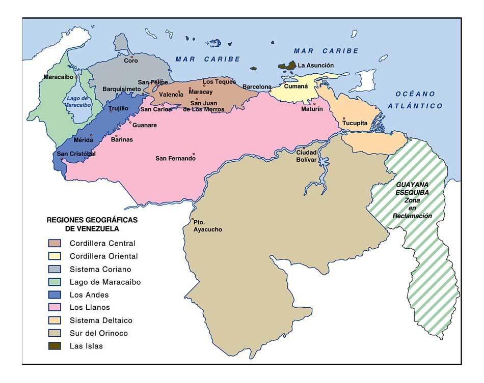 Rincones de mi patria, si se puede hacer turismo en Vzla - Página 2 Regionesgeograficas