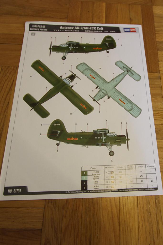 Antonov AN-2 Colt - Hobbyboss 1024-deco1