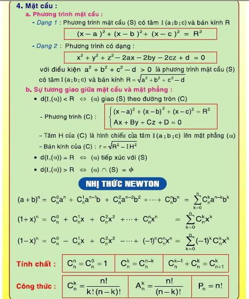 [Lớp 12] Tổng quát CT toán học   16