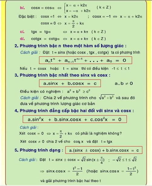 [Lớp 12] Tổng quát CT toán học   8-2