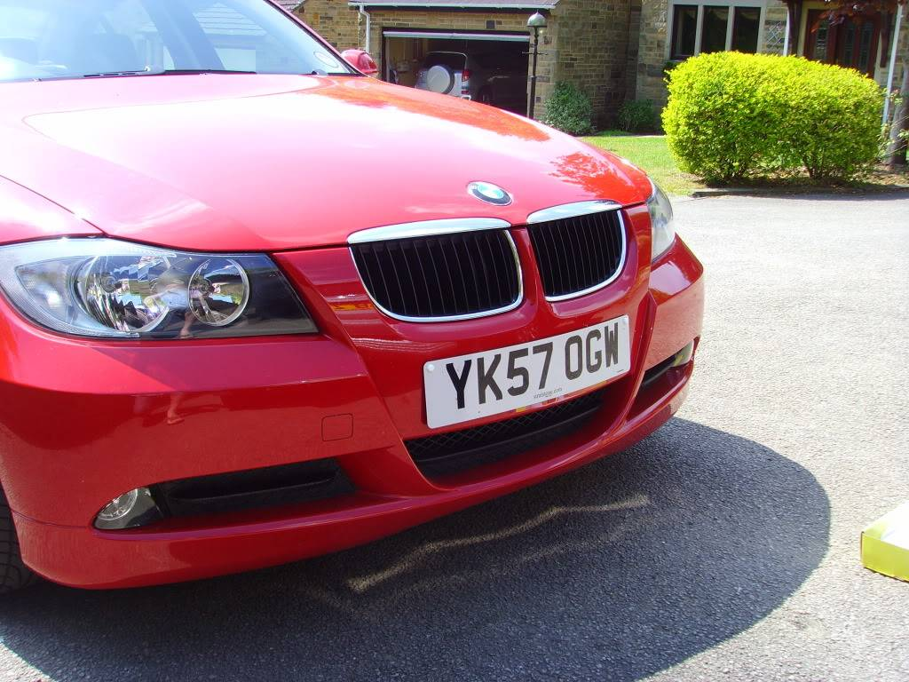 Matt Black M3 front grille fitted SSL20303