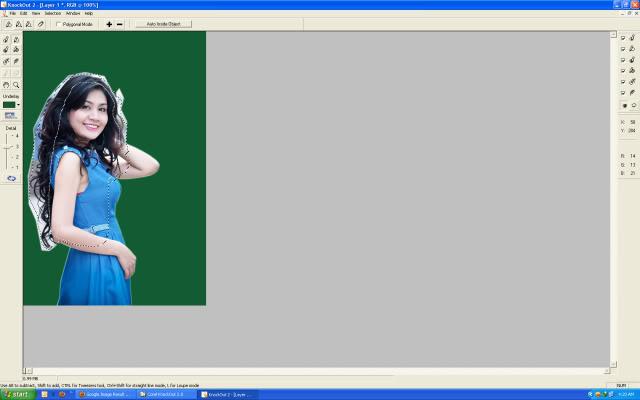 Hướng dẫn tách tóc bằng Corel knockout (Plugin của Photoshop)  4