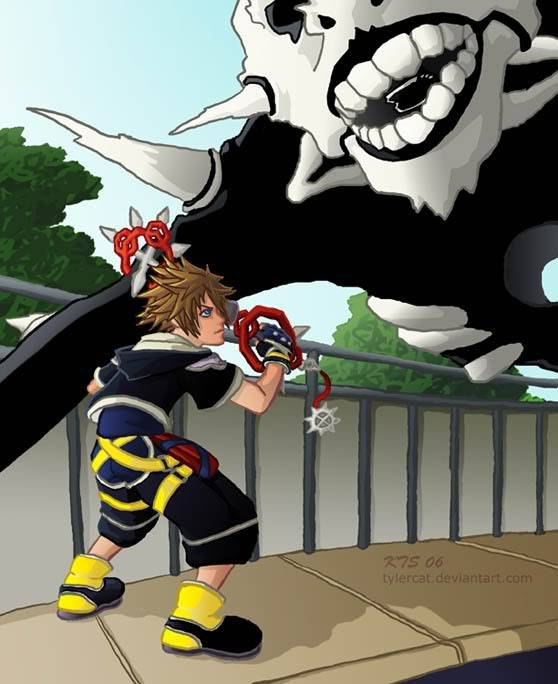 Intersting KH Pics You Find. KH2__Sora_vs__Hollow_by_tylercat