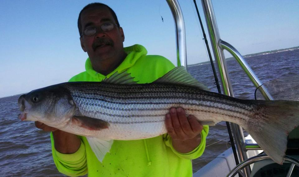 Raritain Bay  - Bass and Blues all day! 10252005_10152459484667433_8676283117465758509_n_zps2b9000ab