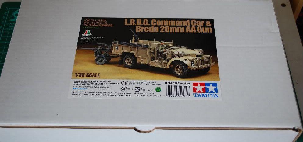 Tamiya LRDG Command Car & Breda 20mm AA Gun 01box