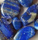 Steentjes Alfabet  Lapislazuli-trommelstenen