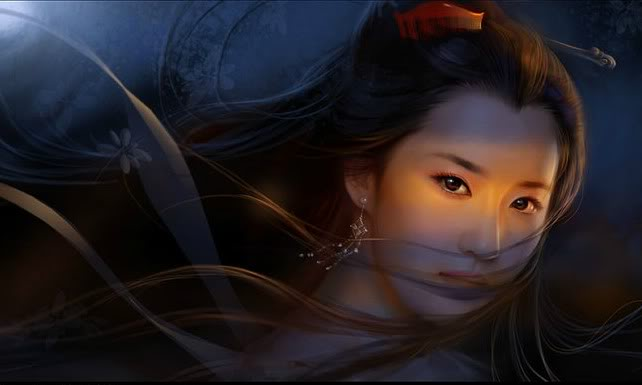 Tears of a ghost.  LIUYIFEI-CHINESE-GHOST-STORY-001