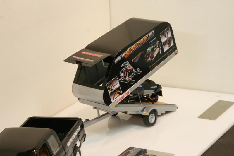 Chevy truck with Russian snowmobile trailer (commission build) IMG_9060_zps00045500