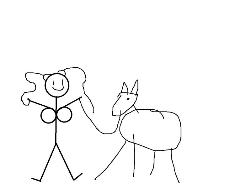 mujer desnuda con caballo Wigimbecil-4