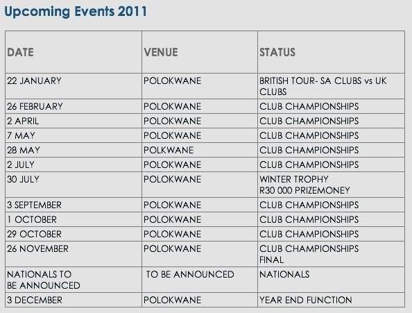 2011 Events PolokwaneOvalEvents