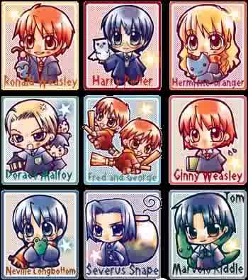 Harry Potter Anime AnimeHarryPotterchibies