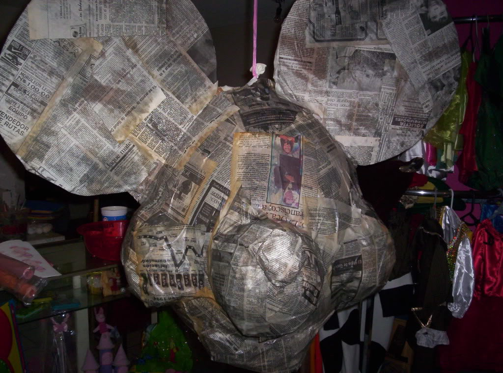 >>>>>   PIÑATAS  <<<<<  cartoneria y papel mache          ( galeria /   paso a paso ) Imagen027
