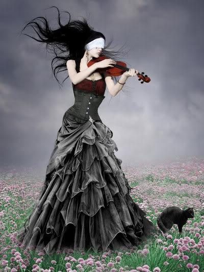 ►►► IMAGENES GOTICAS BONITAS ◄◄◄ ___El_Violin___by_Flore_stock