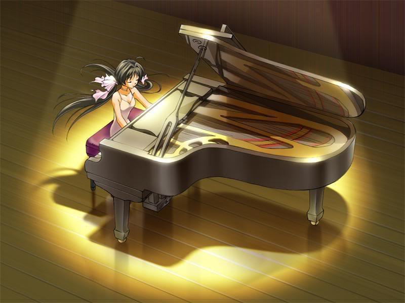 صور بنات انمى تعوف ع البيانوو رووووعه Piano