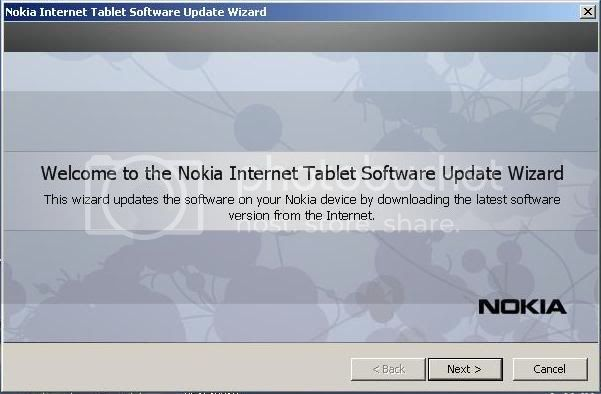 Nokia N800 nokia only successfully updated in NITSUW 1-19