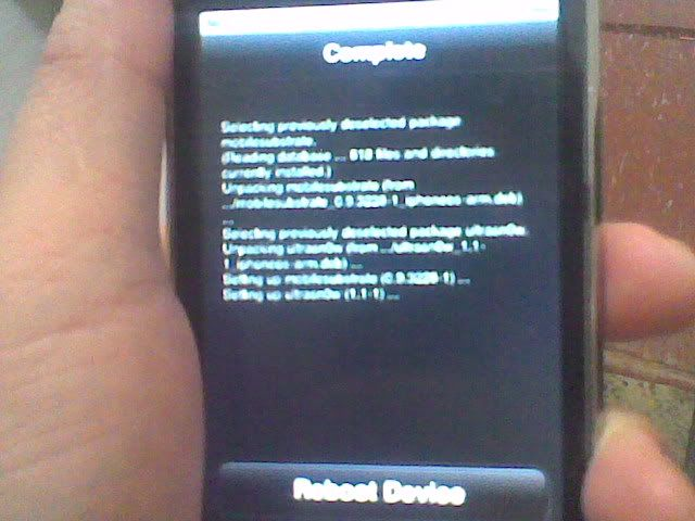 iphone 3GS successfully jailbroken and unlocked 10-5
