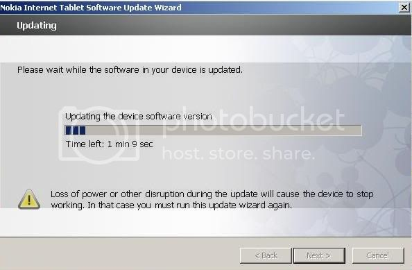 Nokia N800 nokia only successfully updated in NITSUW 7-5