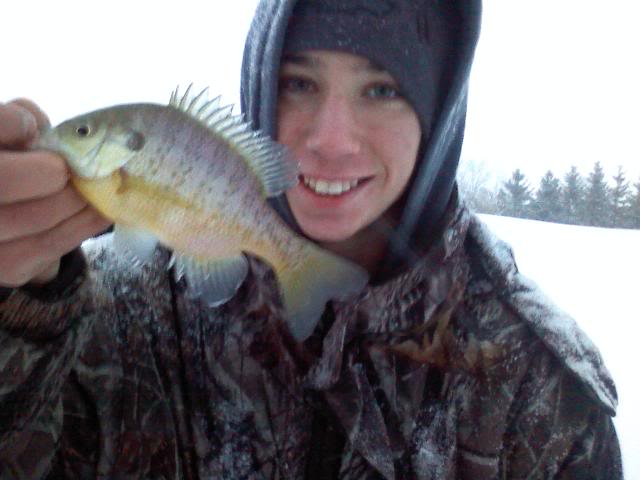 Some pond bassin and a gill! ICE 0107101723