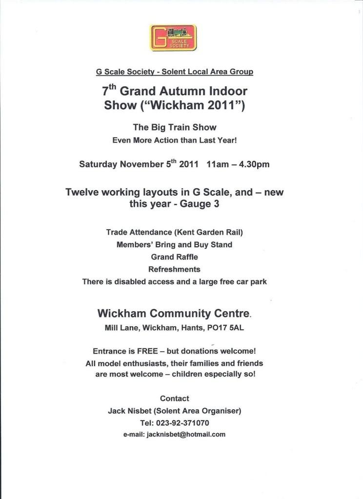 The Wickham Show: November 5th, 2011 WickhamAdvert-2011-portrait-v2