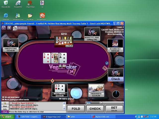 PokerPeople Vegas FreeRoll 3s